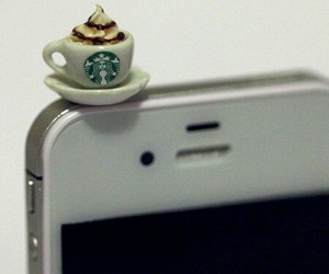 starbucks, cute, and iphone image