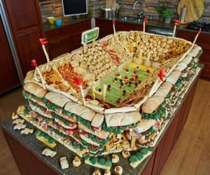 food, stadium, and football image