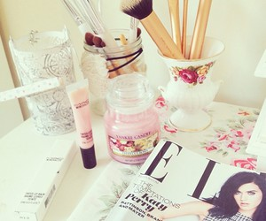 Elle, pink, and makeup image