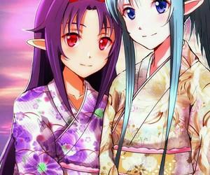 yuuki, sao, and asuna image