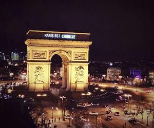 paris, arcdetriomphe, and charliehebdo image