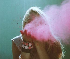 girl, pink, and hipster image