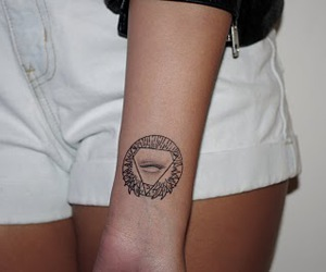 tattoo, wrist, and all seeing eye image