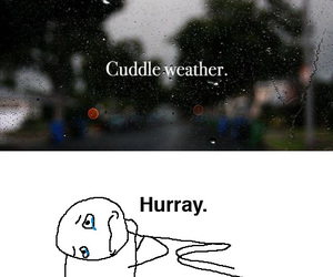 cuddle, funny, and weather image