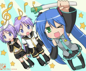 vocaloid, konata, and lucky star image
