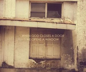 close, door, and god image