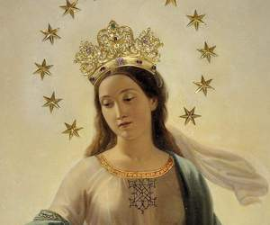 art, virgin, and crown image