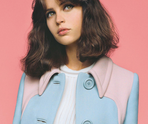 Felicity Jones, pink, and actress image