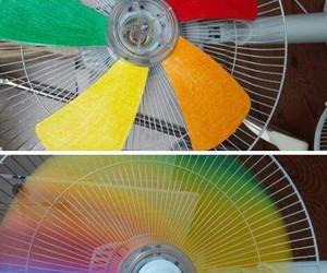 diy, rainbow, and fan image