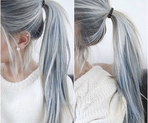 blue, hair, and tail image