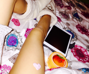 bed, mango, and heart image