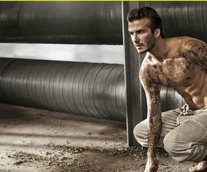 David Beckham, sexy, and tattoo image