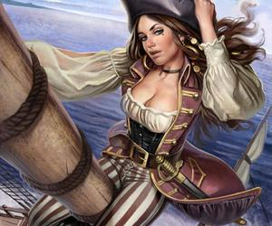 pirate and girl image