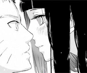 hinata, kiss, and naruto image