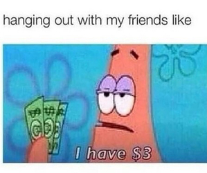 funny, patrick, and money image