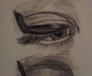 drawing, eyes, and indie image