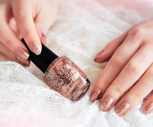 nails, nail polish, and opi image