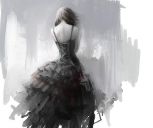 art, dress, and anime image