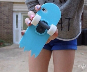 blue, iphone, and skate image