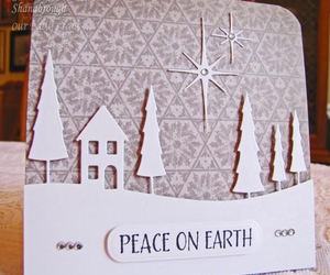 card, handmade, and winter image