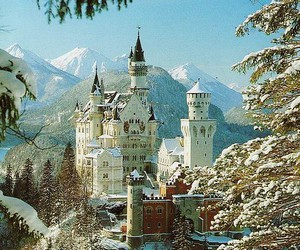 castle, germany, and snow image