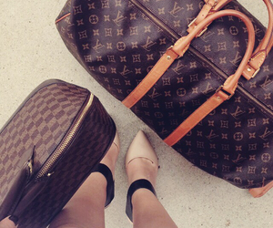 airplane, airport, and bags image