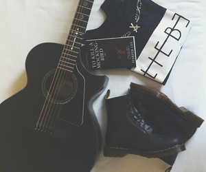 fashion, grunge, and guitar image