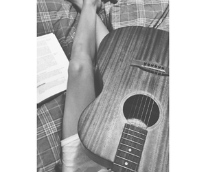 autumn, guitar, and hand image