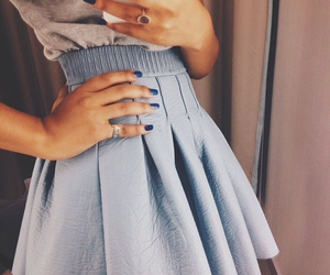 fashion, skirt, and nails image