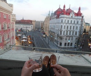 city, drink, and cigarette image