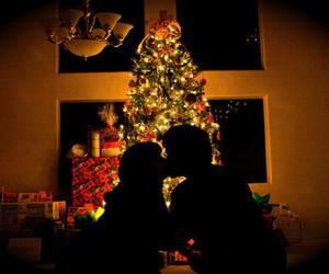 christmas, kiss, and couple image