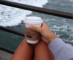 coffee, girl, and legs image