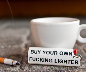 cigarettes, smoking, and lighter image