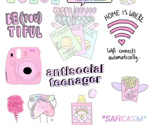 antisocial, fab, and pink image