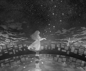 anime, girl, and stars image