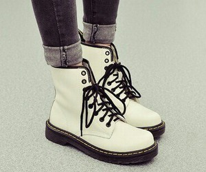 white, boots, and fashion image