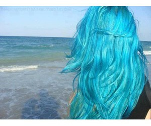 blue, hair, and tumblr image