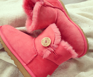 pink, boots, and ugg image