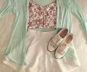fashion, outfit, and floral image