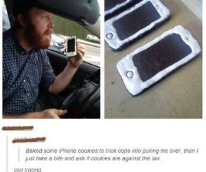 funny, Cookies, and iphone image