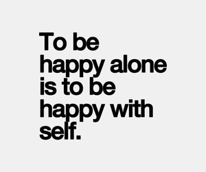 happy, alone, and life image