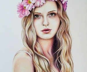 art, colored pencil, and drawings image