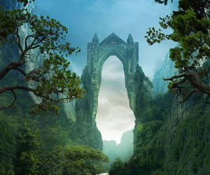 castle, fantasy, and forest image