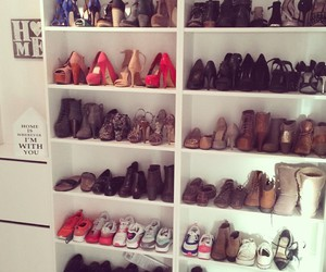 brown, heels, and closet image