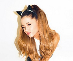 ariana grande, ariana, and cat image
