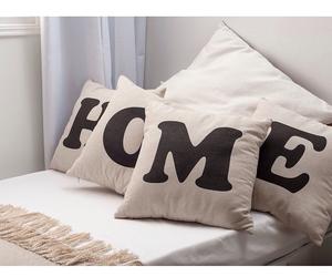 bed, sheets, and cushions image
