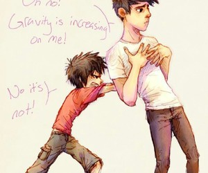 hiro, tadashi, and big hero six image