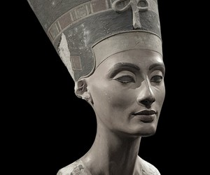 art, music, and nefertiti image