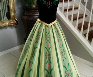 anna, dress, and frozen image