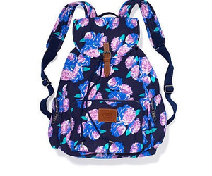 backpack, blue, and pink image